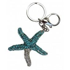 Keyring Blue Starfish