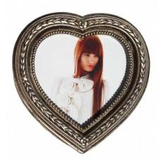 Rococo Vintage Leaf & Flower Decorative Heart Photo Frame