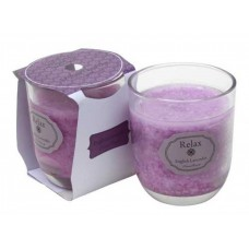 English Lavender Votive Candle In Clear Glass
