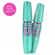 The Mega Plush Volum' Express Mascara #270 Blackest Black TWIN PACK!