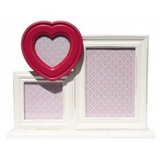 White & Pink Heart Standing Photo Frames