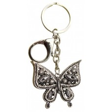 Keyring Diamonte Butterfly